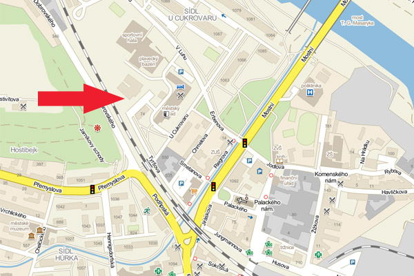 mapa - Badminton Kalupy nad Vltavou